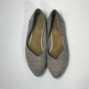 Toms Jutti Gray Suede Flats Size 7